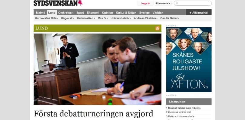 Första debatturneringen avgjord - Lund - Sydsvenskan-Nyheter Dygnet Runt - 2013-10-10_17.29.33